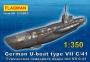 """235003 """"Герм. подводная лодка тип VIIС/41  1/350"""