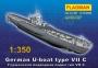 """235006 """"Герм. подводная лодка тип VII C""""  1/350"""