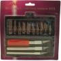 4004 Jas Набор ножей с цанговым зажимом, 13 предметов