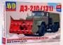 AVD1292 - шнекороторный снегоочиститель ДЭ-210 (ЗИЛ-131)  (1:72)