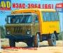 AVD1383 - вахтовый автобус НЗАС-3964  ( ГАЗ - 66)    (1:43)